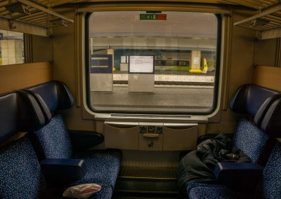 Our train compartment