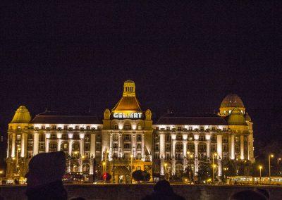 gellert hotel at night