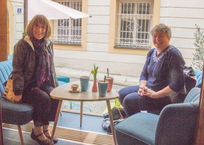 Karen and Joyce breakfast window