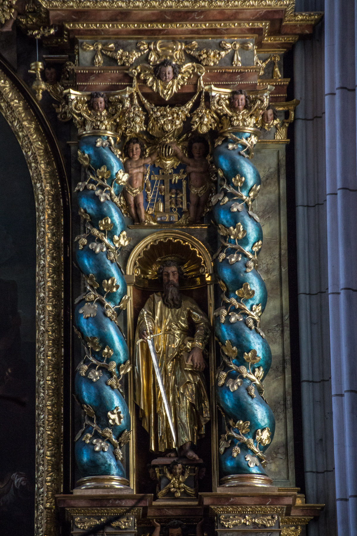 detail from altar of the abbey church
