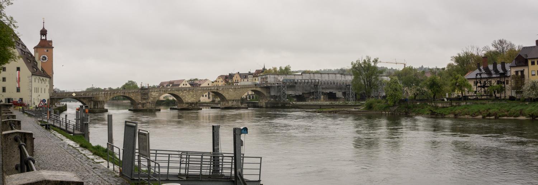 bridge over the Danube at Regensburg
