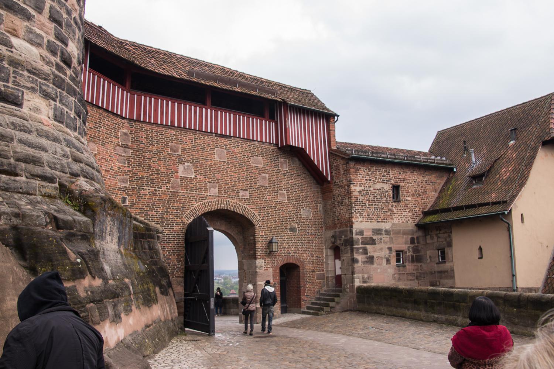 castle door and walkway