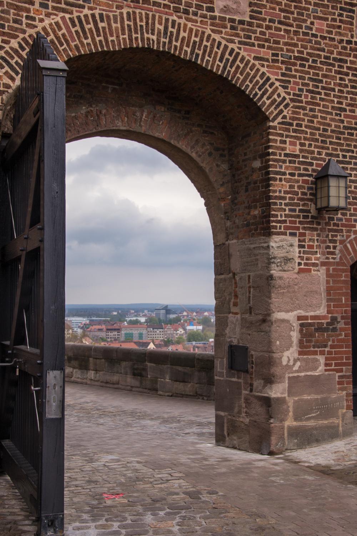 castle doorway and view