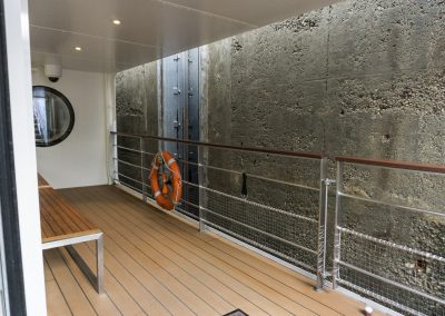 lock wall from lower deck