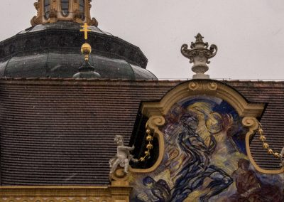 Abbey roof detail