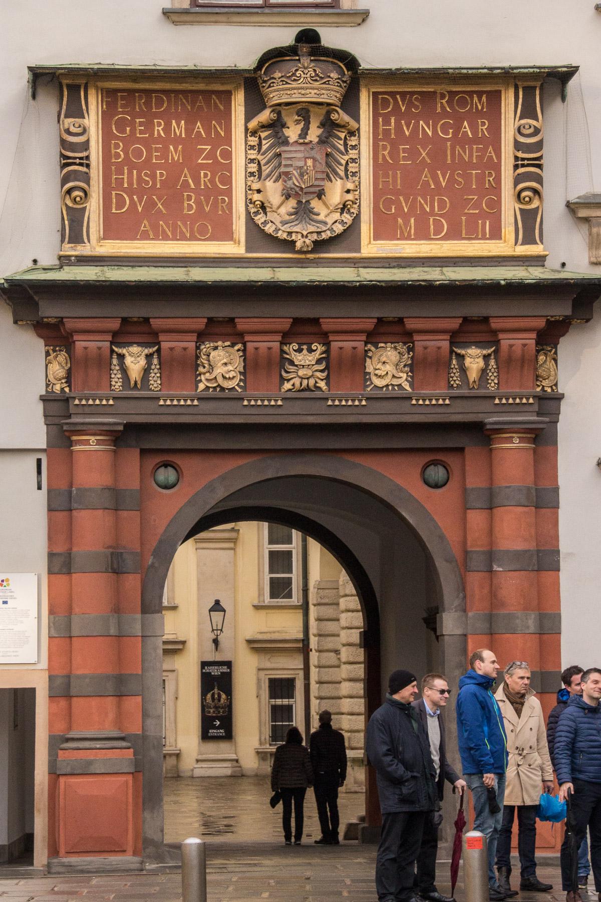 red hofburg gate