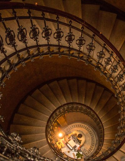 spiral staircase down
